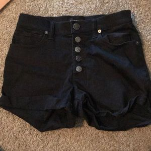 Button Fly High Waisted Shorts